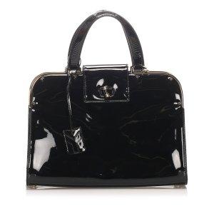 YSL Large Uptown Patent Leather Handbag