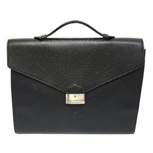 Yves Saint Laurent Bolso business negro Cuero