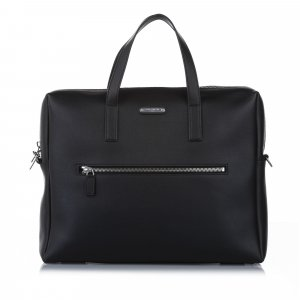 Yves Saint Laurent Business Bag black leather