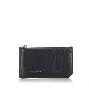 Yves Saint Laurent Porte-cartes noir cuir