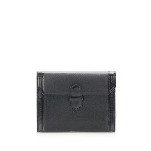 Yves Saint Laurent Pochette noir cuir