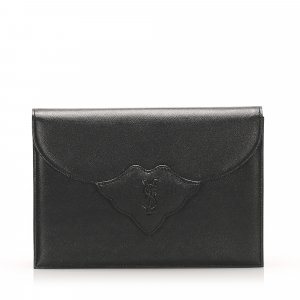 Yves Saint Laurent Clutch black leather