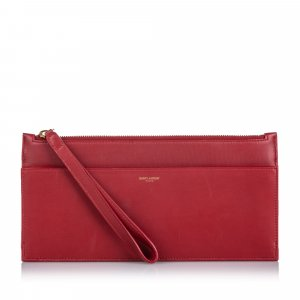 Yves Saint Laurent Borsa clutch rosso Pelle