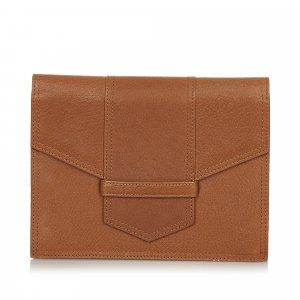 Yves Saint Laurent Pochette brun cuir
