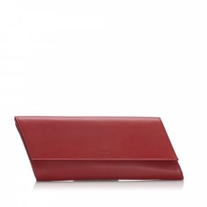 YSL Leather Diagonale Clutch Bag