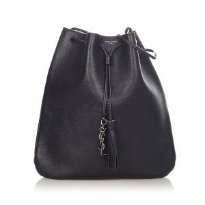 YSL Leather Drawstring Crossbody Bag