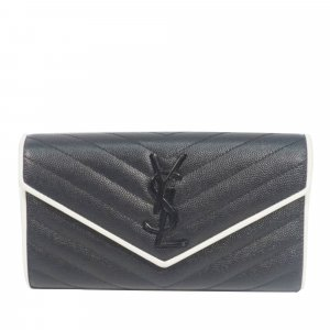 YSL Leather Monogram Wallet