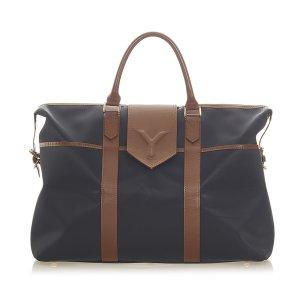 Yves Saint Laurent Travel Bag black leather