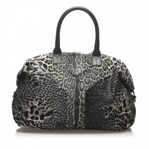 YSL Leopard Easy Pony Hair Handbag