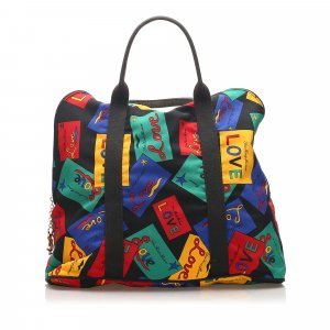 YSL Love Printed Nylon Handbag