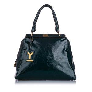 YSL Majorelle Patent Leather Handbag