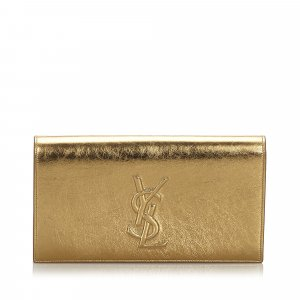 Yves Saint Laurent Borsa clutch oro Pelle