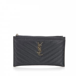 YSL Monogram Bill Leather Pouch