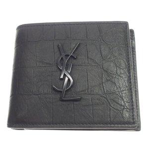 YSL Monogram Embossed Leather Wallet