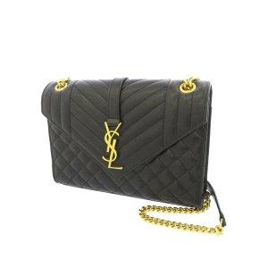 YSL Monogram Envelope Leather Shoulder Bag