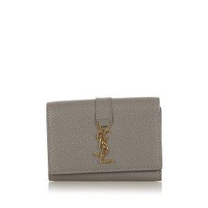 Yves Saint Laurent Key Case green leather
