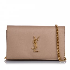 YSL Monogram Wallet On Chain
