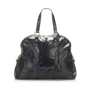 YSL Muse Patent Leather Shoulder Bag