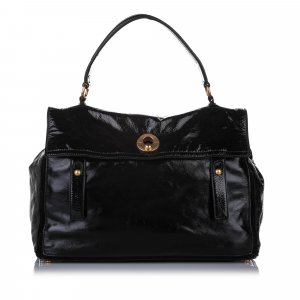 YSL Muse Two Patent Leather Handbag