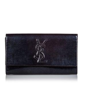 YSL Patent Leather Belle de Jour Clutch Bag