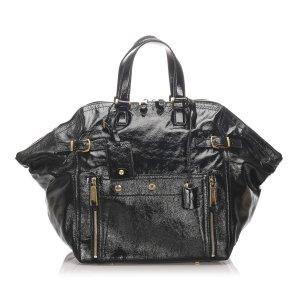 Yves Saint Laurent Sac de voyage noir faux cuir