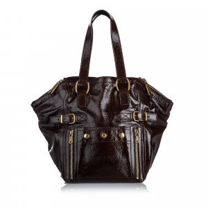 YSL Patent Leather Downtown Tote Bag