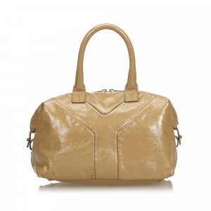 YSL Patent Leather Easy Boston Bag