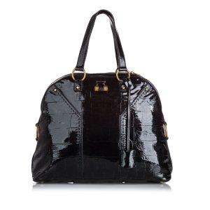 Yves Saint Laurent Bolsa de hombro negro Cuero
