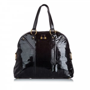 YSL Patent Leather Muse Handbag