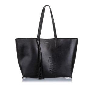 Yves Saint Laurent Sac fourre-tout noir cuir