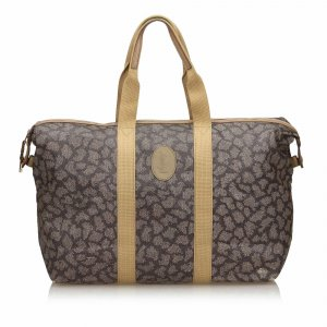 Yves Saint Laurent Travel Bag green polyvinyl chloride