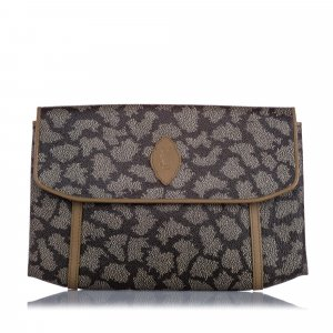 YSL Printed Flap Clutch Bag