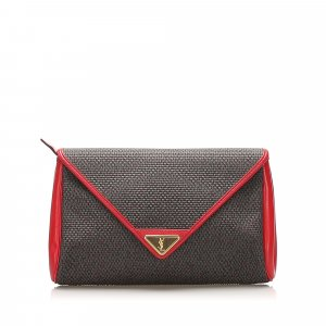 YSL Printed Leather Clutch Bag