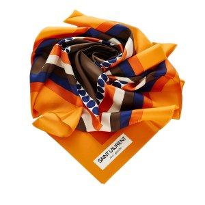 Yves Saint Laurent Sjaal oranje Nylon
