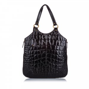 YSL Quilted Patent Leather Tribute Tote Bag