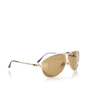 YSL Round Tinted Sunglasses