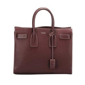 Yves Saint Laurent Satchel bordeaux leather