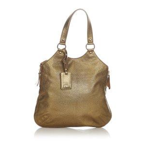 Yves Saint Laurent Sac fourre-tout doré cuir