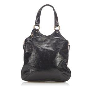 YSL Sac Metropolis Patent Leather Tote Bag