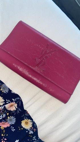 YSL Saint Laurent  Original / Belle de Jour Patent Clutch Violet