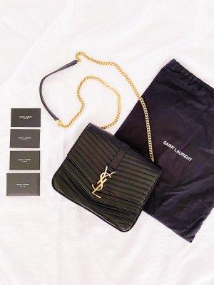 YSL Saint Laurent Sulpice Flap Bag schwarz