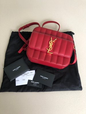 YSL Saint Laurent Vicky Camera Bag rot gold