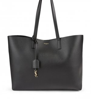 Saint Laurent Shopper noir-doré cuir