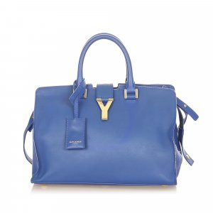 YSL Small Cabas Chyc Leather Satchel