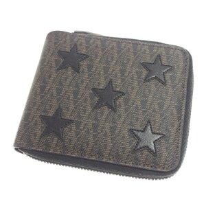 YSL Star Embossed Zip Wallet