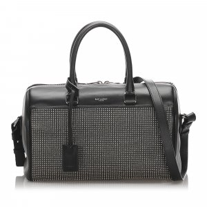 Yves Saint Laurent Satchel black leather