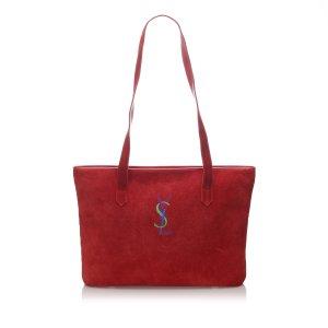 YSL Suede Monogram Tote Bag
