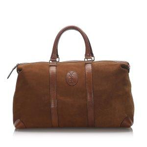 Yves Saint Laurent Travel Bag beige suede