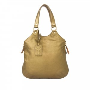 YSL Tribute Metallic Leather Tote Bag