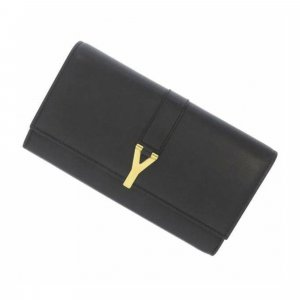 YSL Y Line Leather Long Wallet